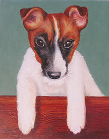 Dog Portrait Painting - Puppy Portrait by Kristine Mobley