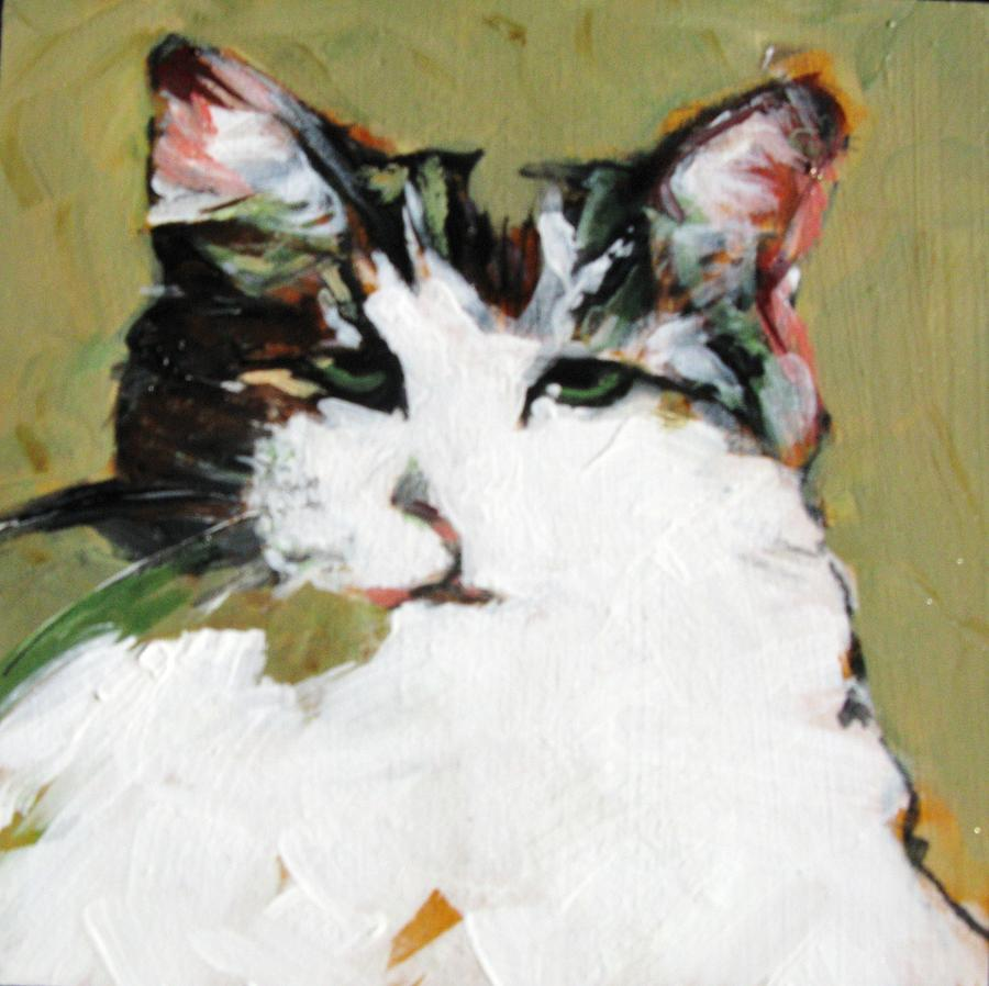 Cat Painting - Pur-fect Pose by Michelle Winnie