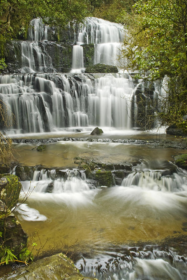 Water Photograph - Purakanui Falls by Andrea Cadwallader