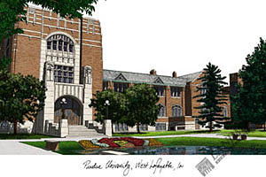 Purdue Boilermakers Photograph - Purdue Universiyt Kettler Hall by Campus Images