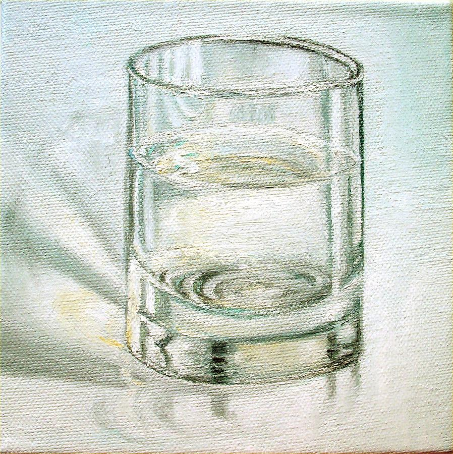 Glass Of Water Painting - Pure And Simple 2 by Irene Corey