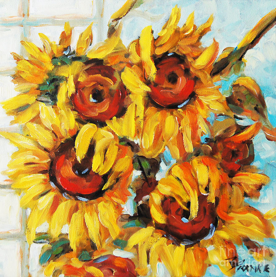 Abstract Poppies Painting - Pure Sunshine By Prankearts by Richard T Pranke