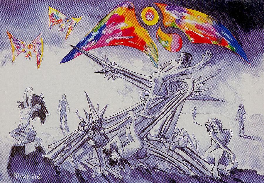 Angels Painting - Purgatory by Michael Hudak