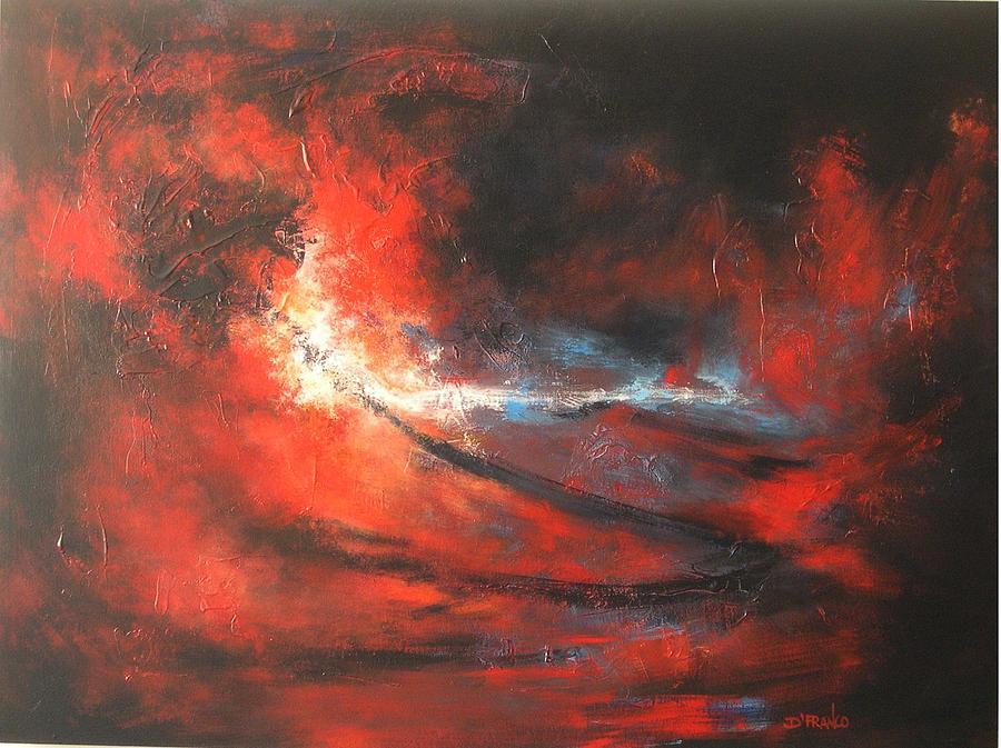 Abstract Painting - Purification by DEVARAJ Daniel Franco