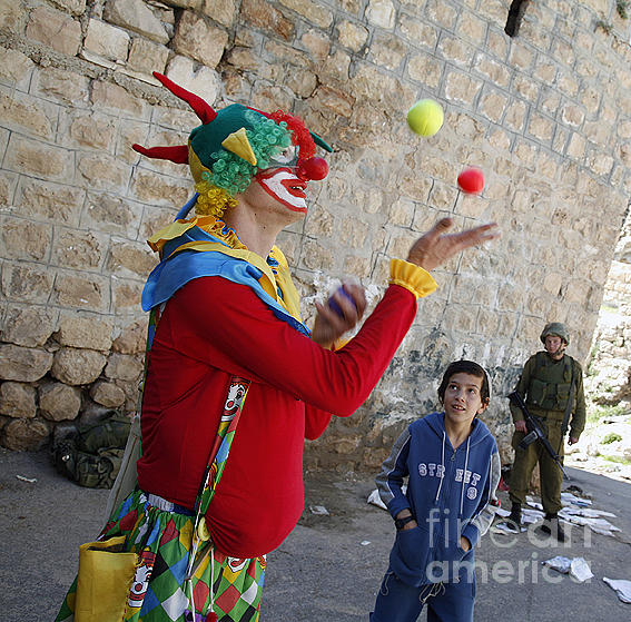Hebron Photograph - Purim Hebron 02 by Jason Moore