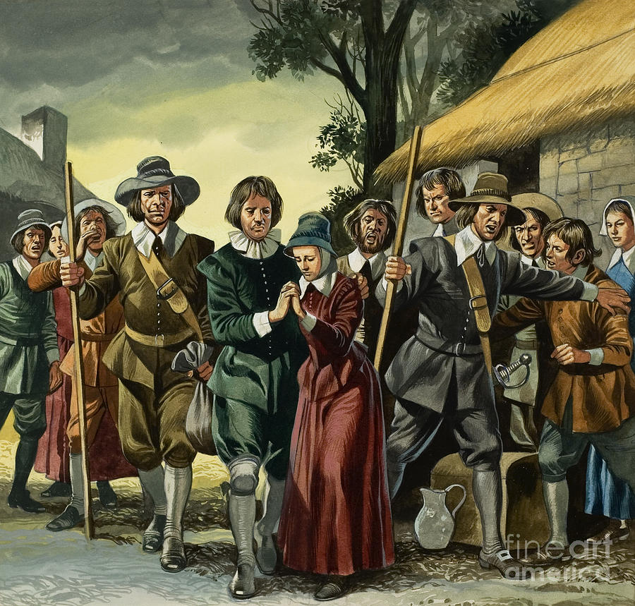 Salem Painting - Puritans by Ron Embleton
