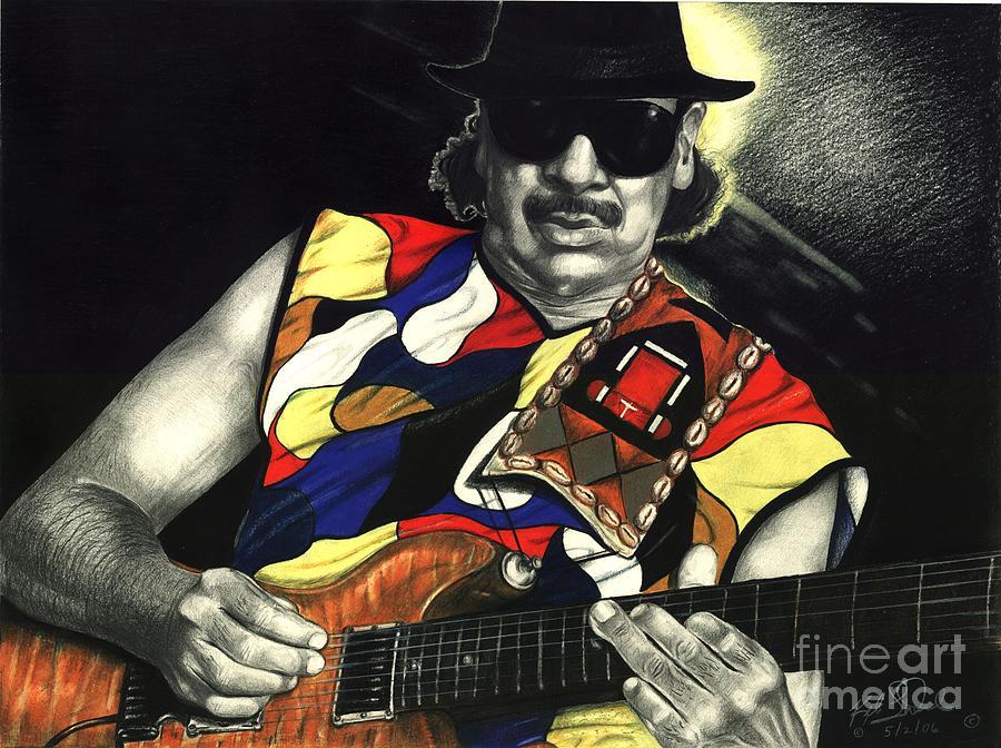 Carlos Santana Painting - Puro Santana by Kelvin Winters