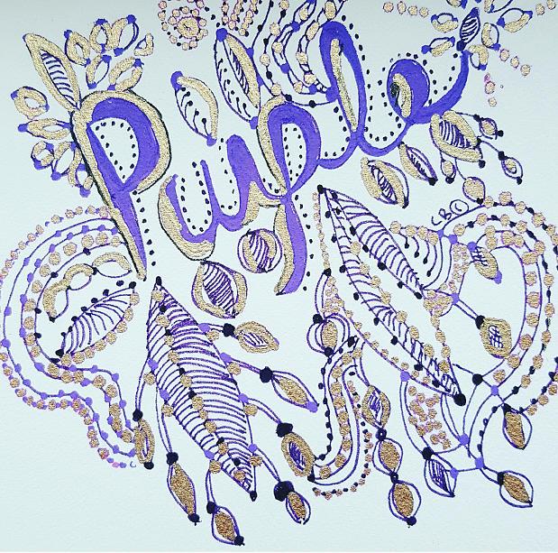 Purple 1 by Carole Brecht