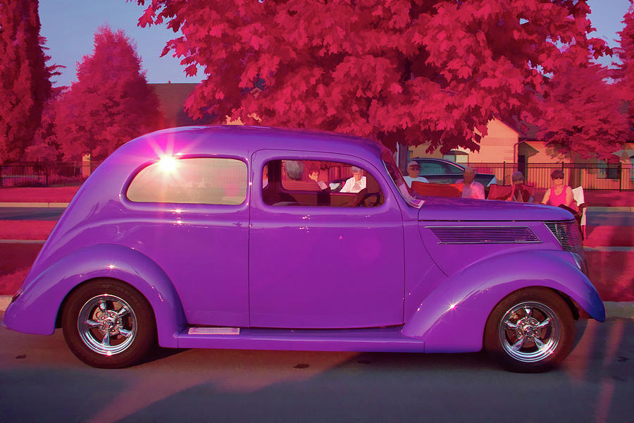 Purple 37 Ford Coupe Photograph By Gary Radford