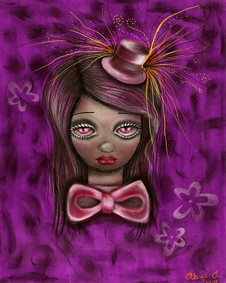 Mad Hatter Painting - Purple by  Abril Andrade Griffith