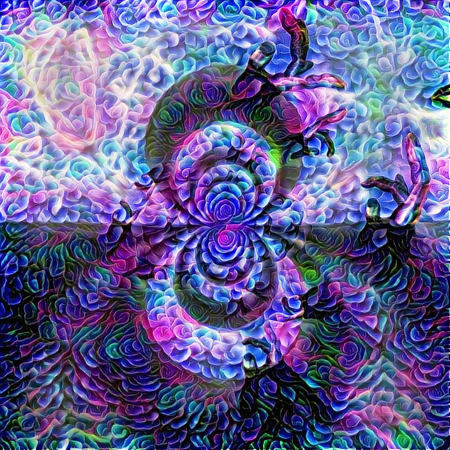 Purple Abstraction Digital Art