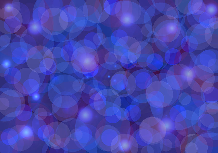 Abstract Painting - Purple And Blue Abstract by Frank Tschakert