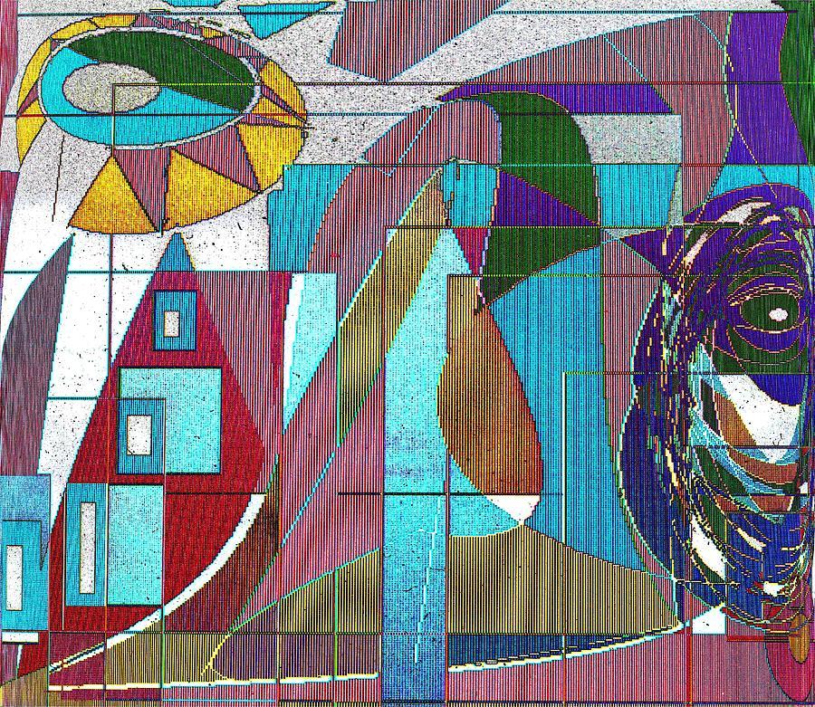 Purple Digital Art - Purple and Blue by Ian  MacDonald