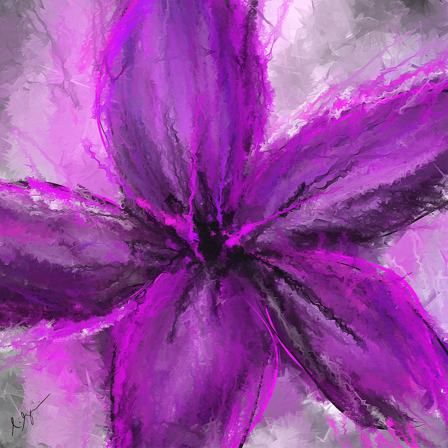 Purple And Gray Art Painting