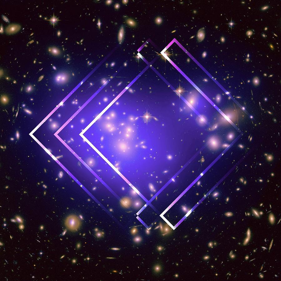 Brandi Fitzgerald Digital Art - Purple Angles In Space by Brandi Fitzgerald