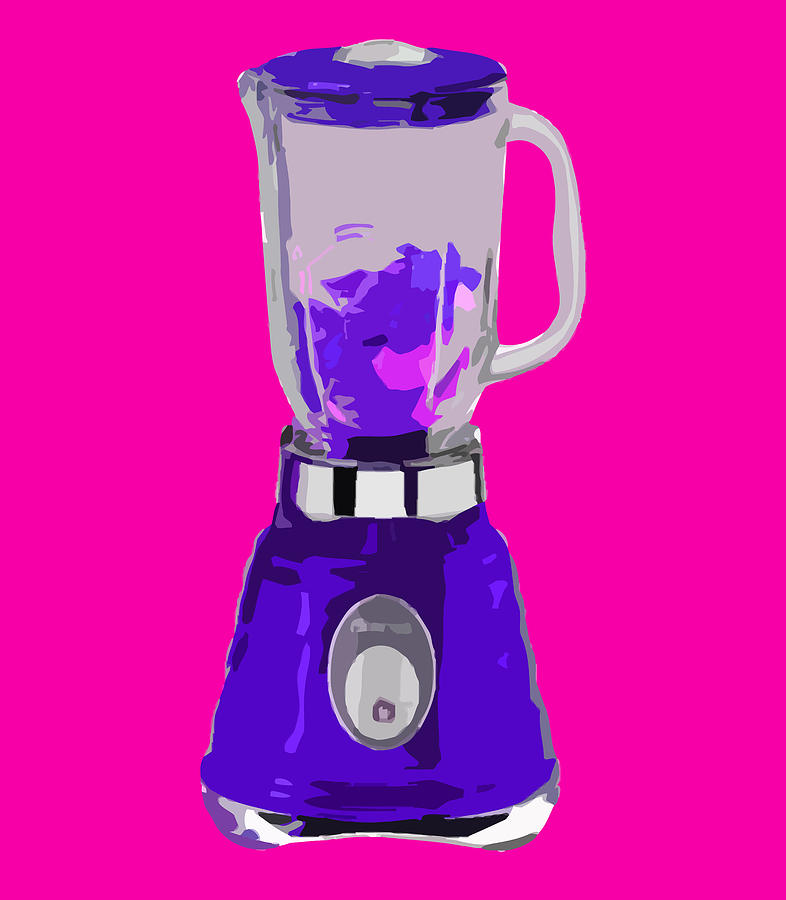 Blender Digital Art - Purple Blender by Peter Oconor