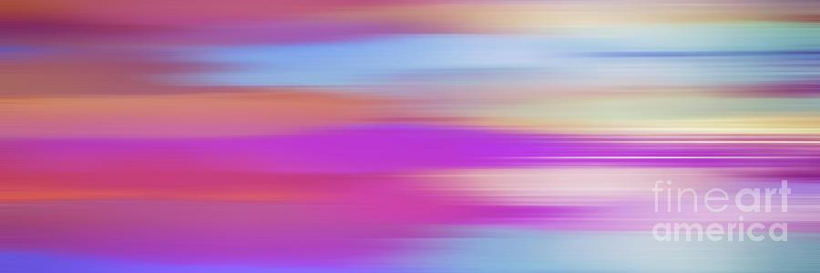 Purple Bliss Sunrise Panorama By Kaye Menner Digital Art