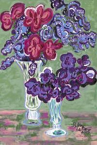 Flower Painting - Purple Bouquet by Debra LaBar