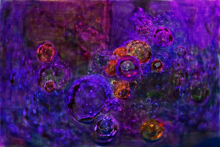 Bubbles Digital Art - Purple Bubbles Painting by Don  Wright