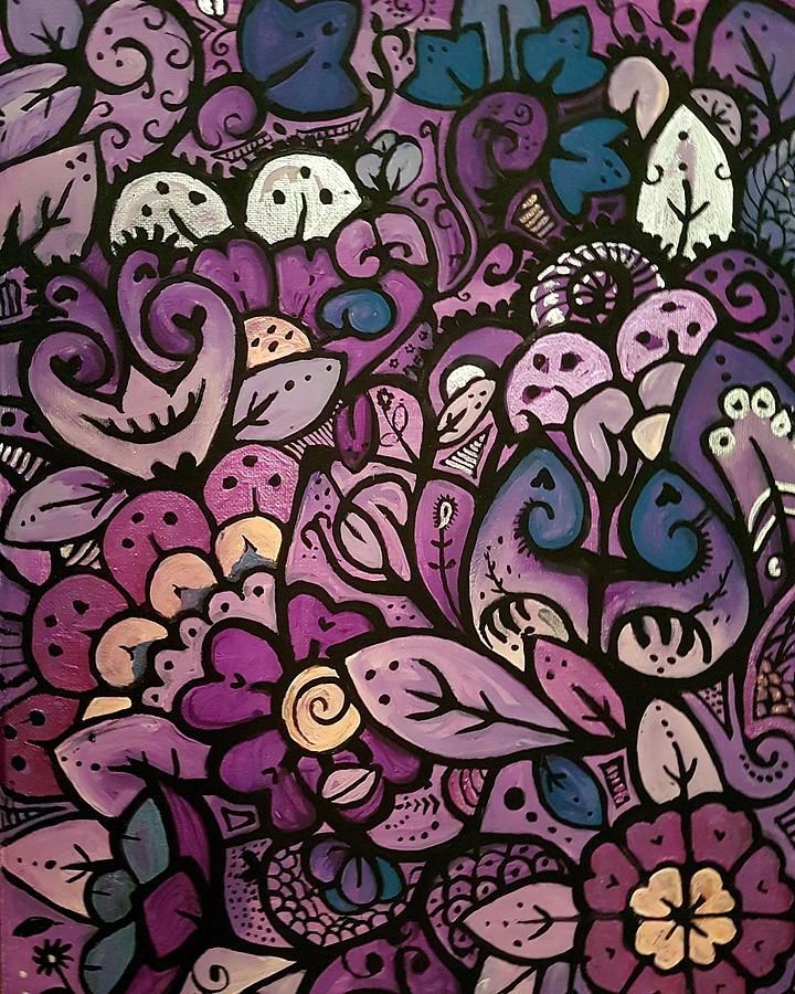 Purple Painting by Carole Hutchison