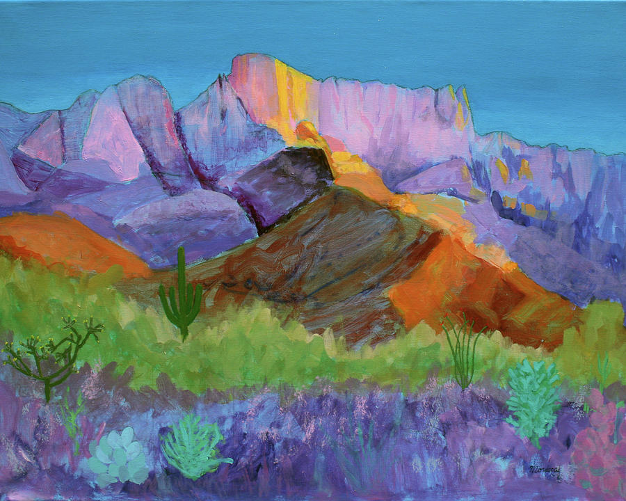 Landscape Painting - Purple Catalina by Mordecai Colodner