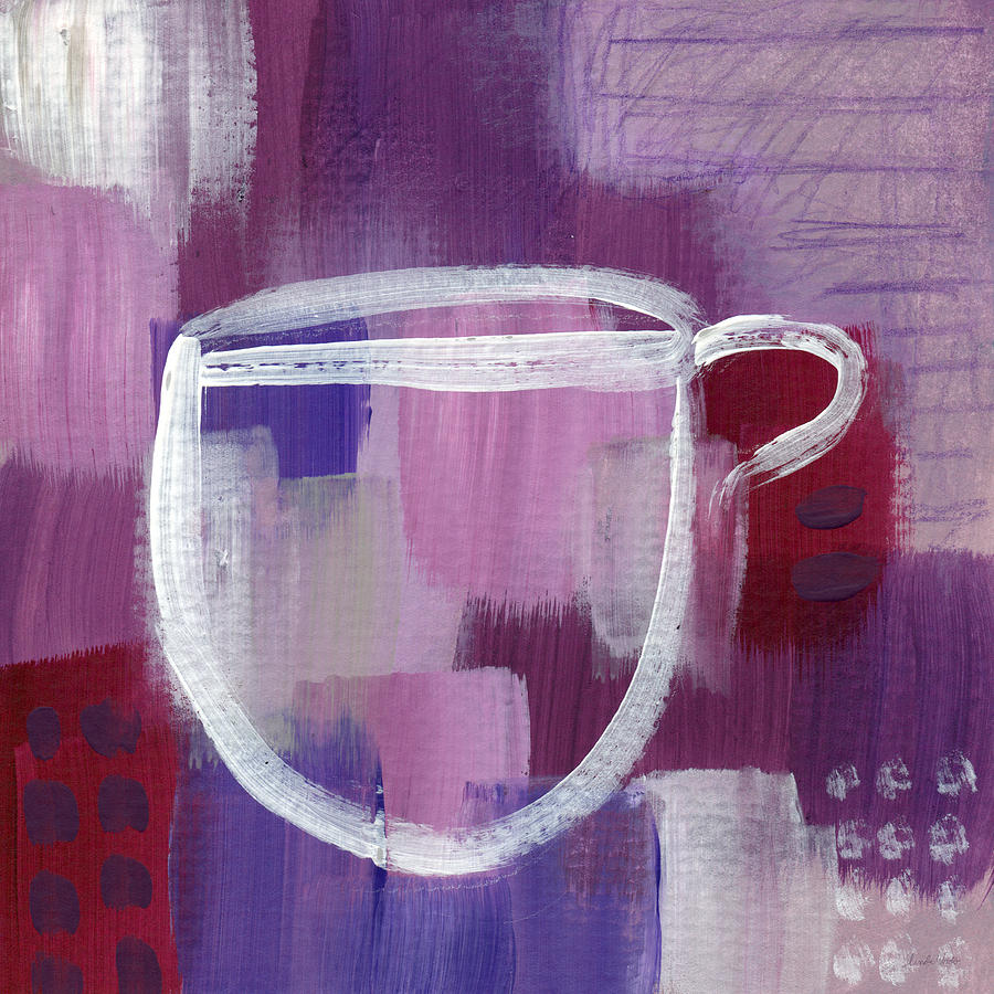 Purple Cup- Art By Linda Woods Painting