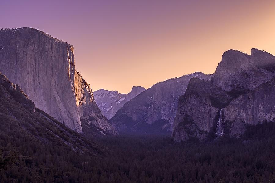 Purple Dawn At Yosemite Tunnel View by Priya Ghose