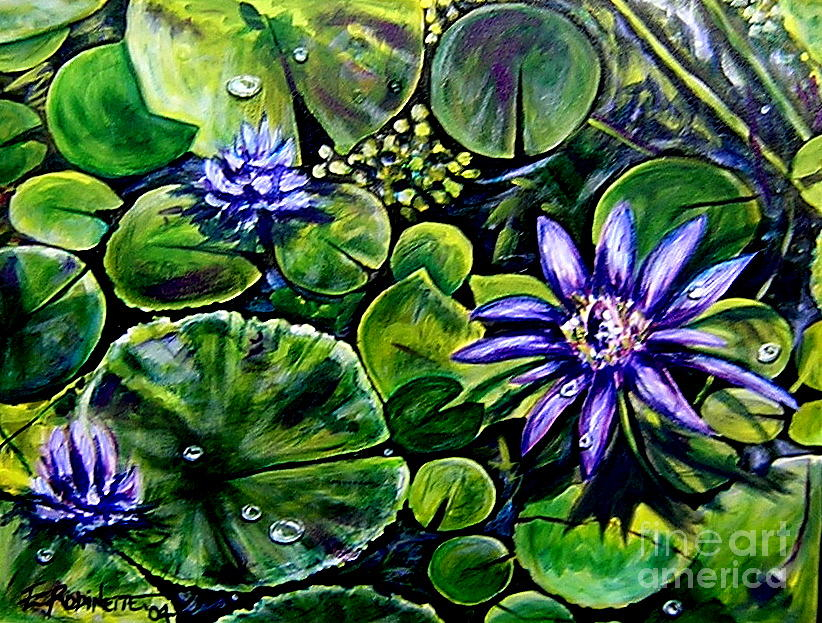 Purple Painting - Purple Dawn by Elizabeth Robinette Tyndall