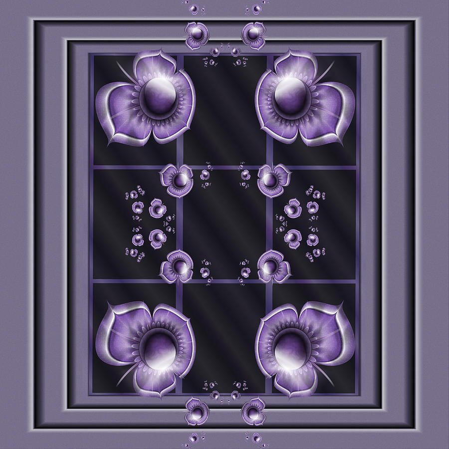 Purple Digital Art - Purple Dimensions by Karla White