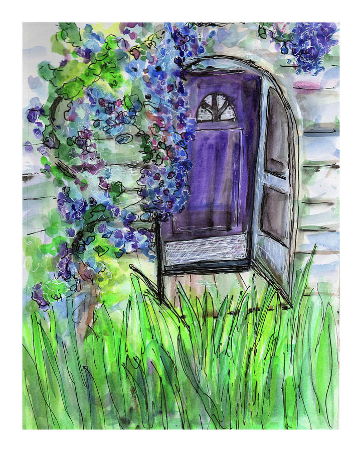 Purple Doorway by Jenny Mead