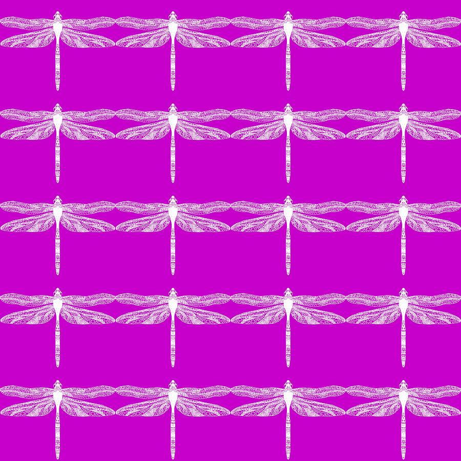 Purple Dragonflies Painting