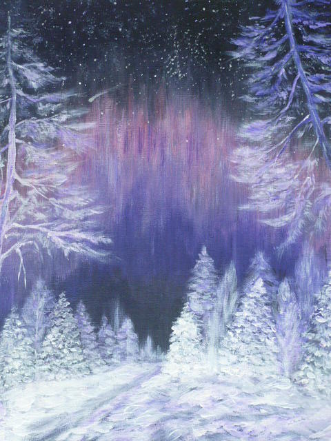 Winter Painting - Purple Dream  by Irina Astley