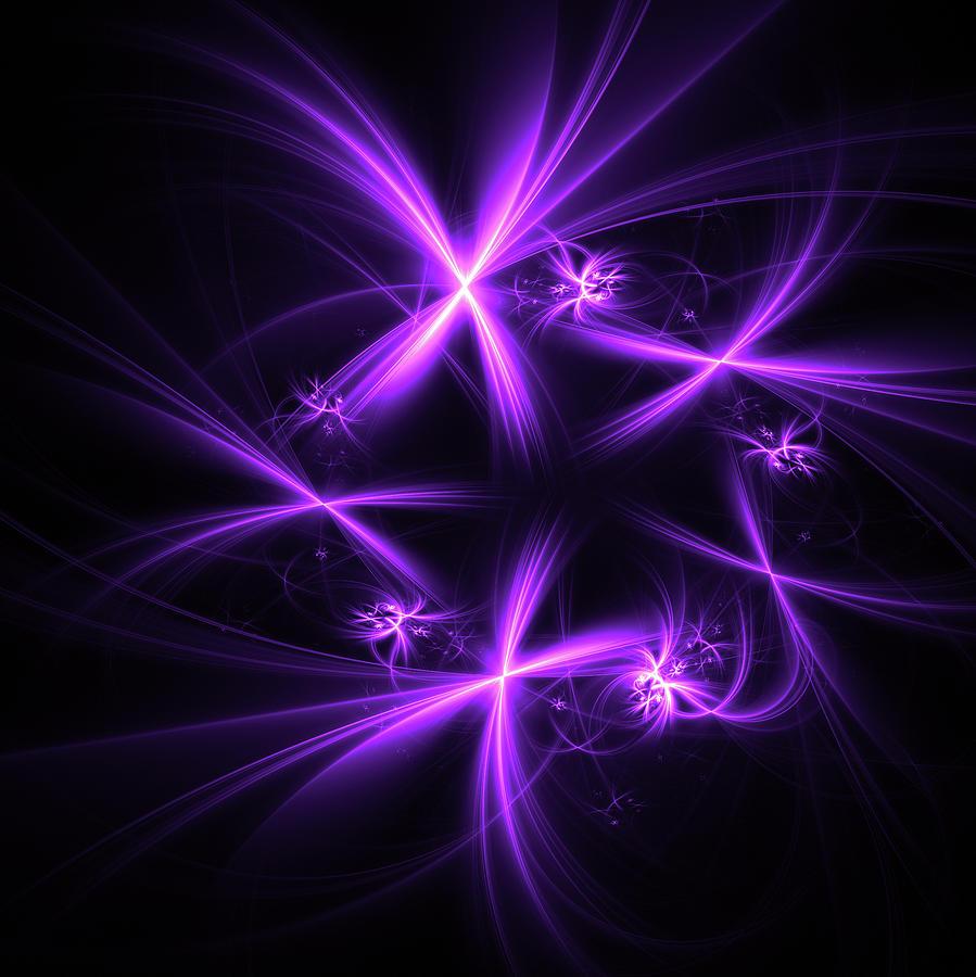 Purple Fireworks Digital Art
