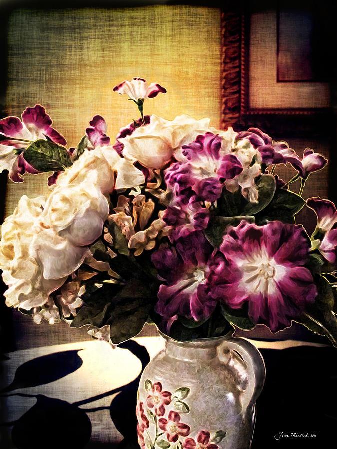 Floral Photograph - Purple Floral Arrangement by Joan  Minchak