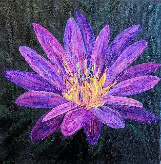Purple Floral Fun by Gail Friedman