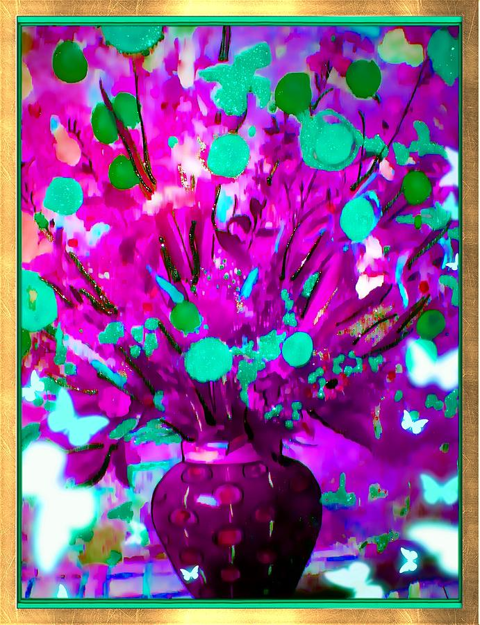 Purple Floral Photograph by HollyWood Creation By linda zanini