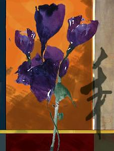 Purple Flowers Painting by Joel Beckenhauer