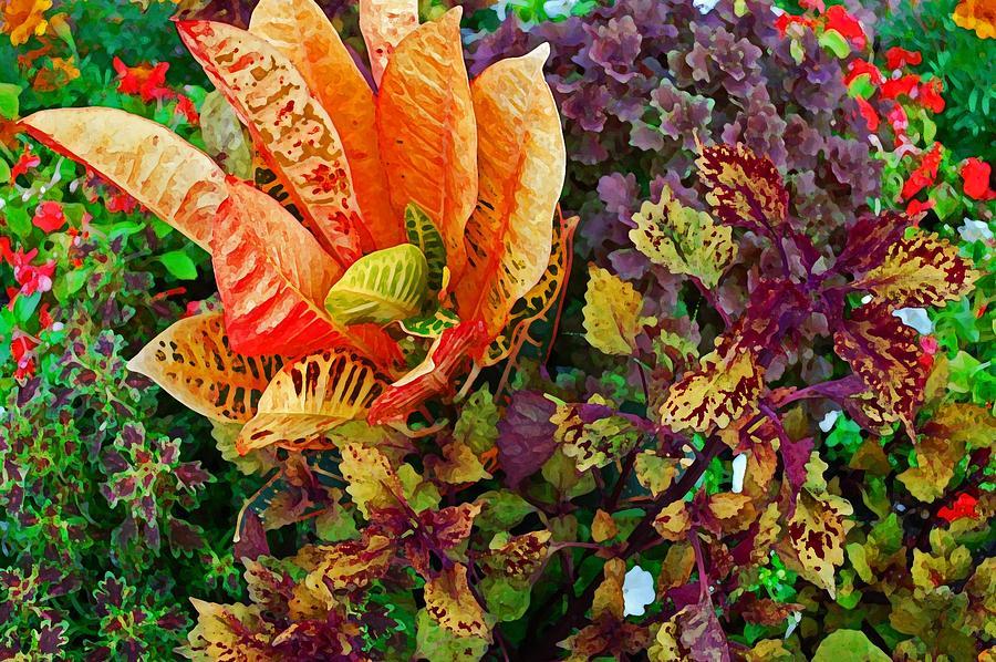 Flowers Digital Art - Purple Flowers by Michael Thomas