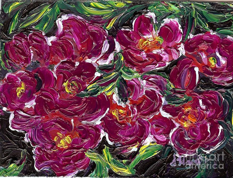 Flowers Painting - Purple Flowers by Susan Harris