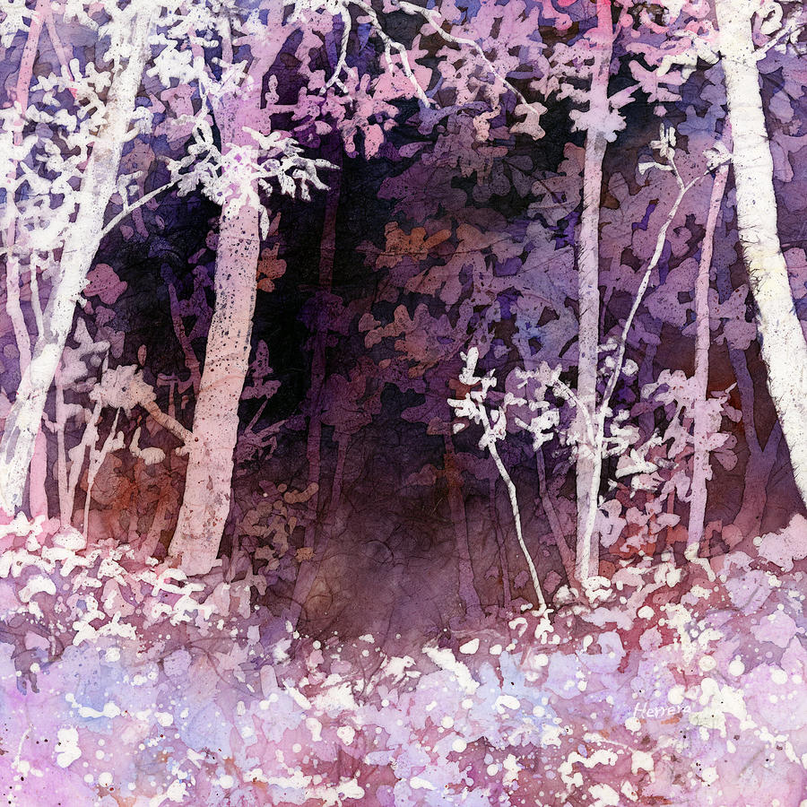Purple Forest Painting