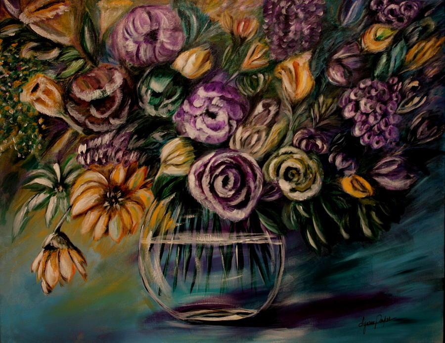 Floral Painting - Purple Fragrance by Dyanne Parker