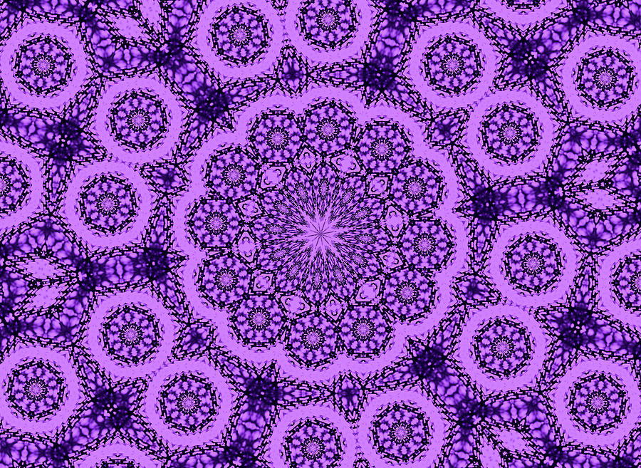 Landscape Photograph - Purple Geek Kaleidoscope Five by Morgan Carter