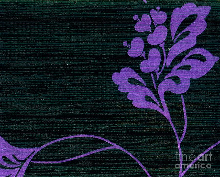 Flowers Mixed Media - Purple Glamour On Black Weave by Writermore Arts
