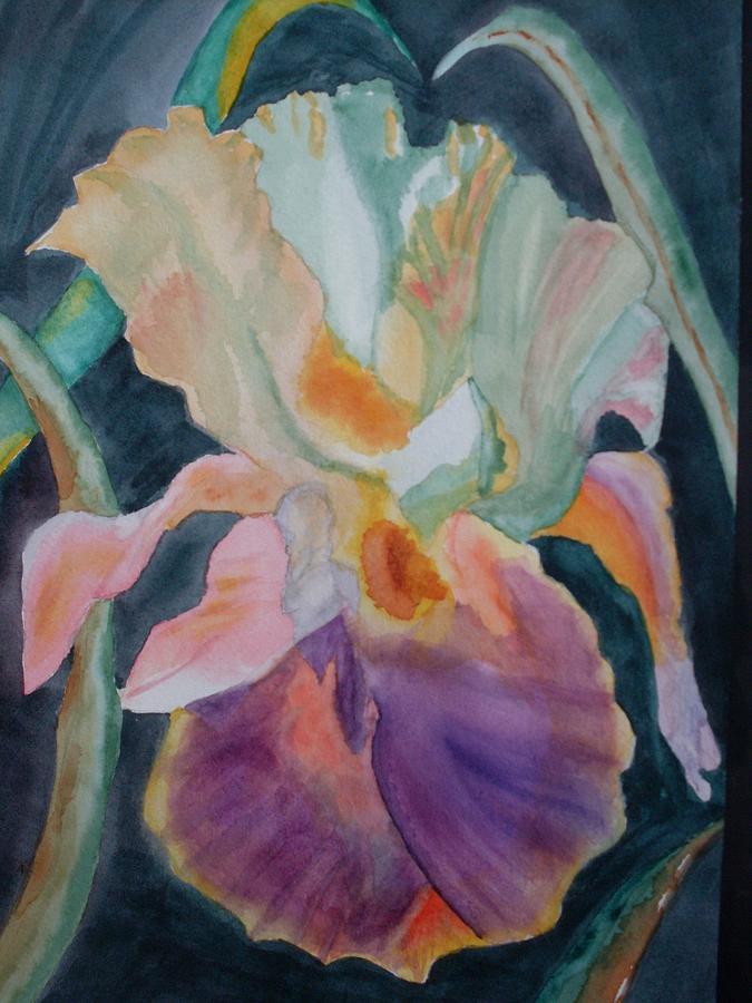 Iris Painting - Purple Glory by Warren Thompson