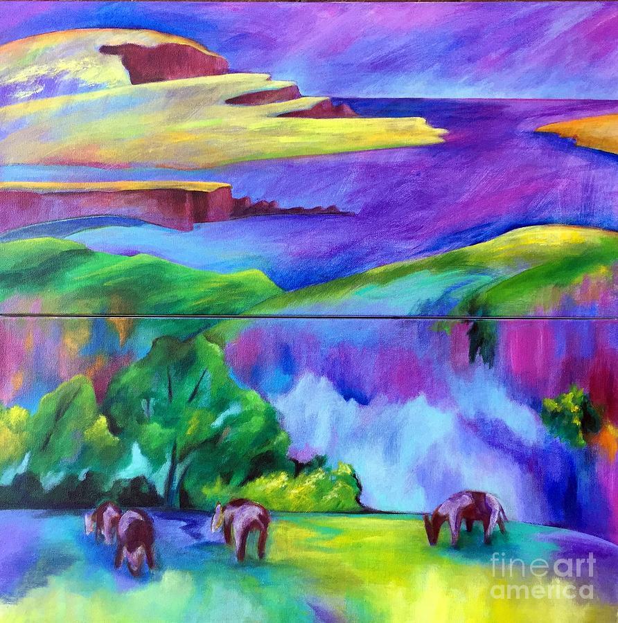 Purple Graze by Elizabeth Fontaine-Barr