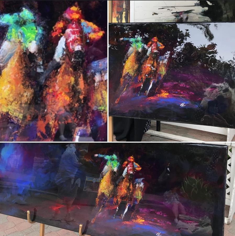 Purple Haze Painting by Heather Roddy