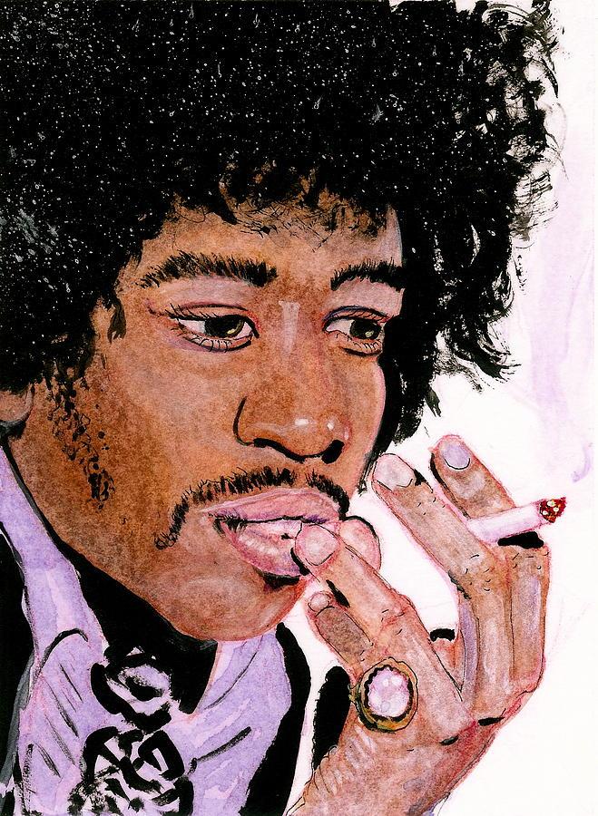 Purple Haze Jimi Painting by Charles Merrill