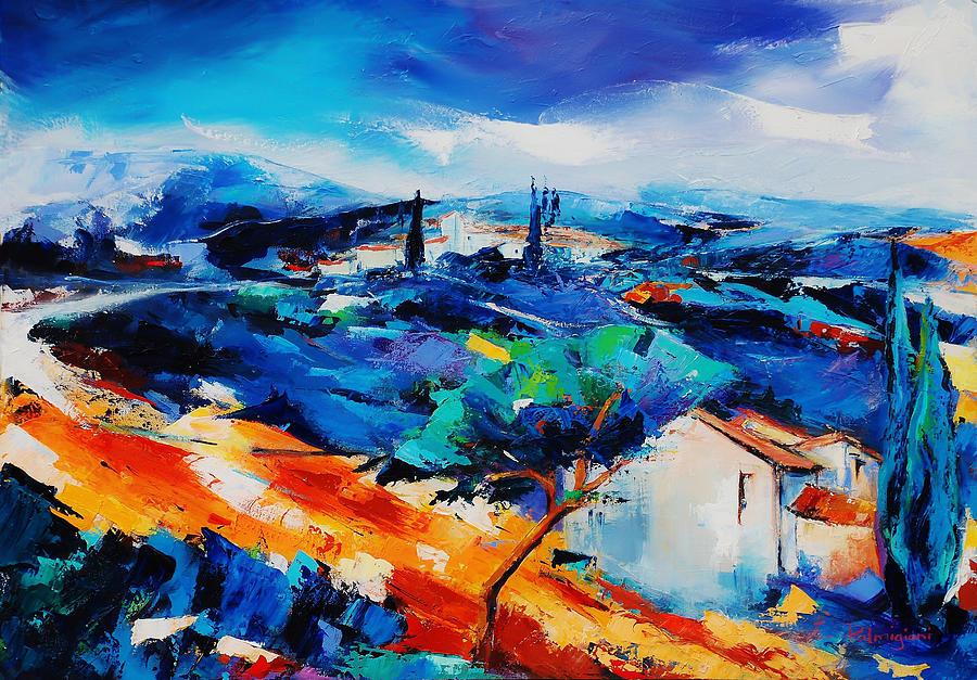 Purple Hills Painting - Purple Hills by Elise Palmigiani