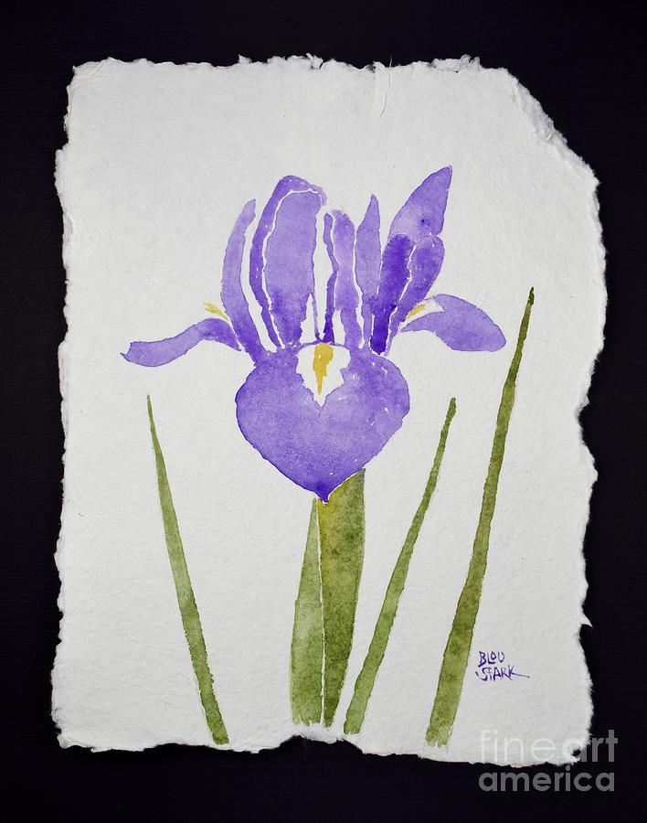 Purple Iris Painting by Barrie Stark