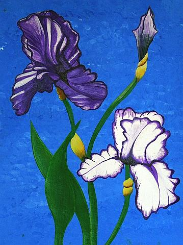 Purple Iris Painting by Camylle Moore